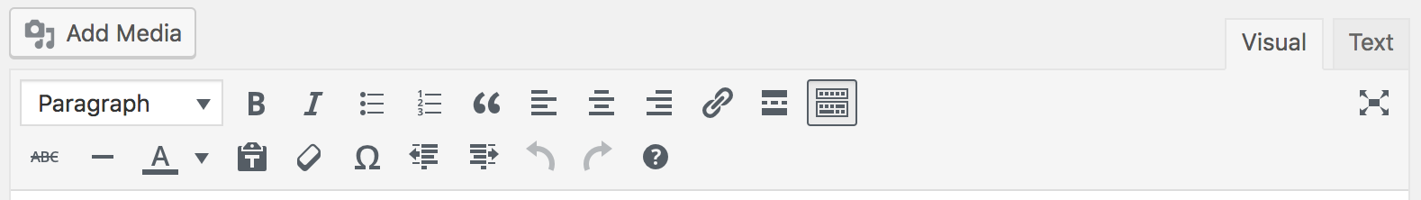 Toolbar with both rows visible